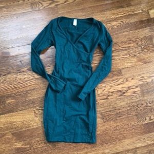 Green american apparel bodycon dress